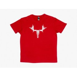 Moose Short Sleeve Tee Red